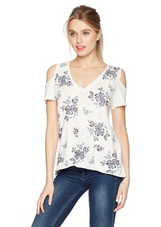 Lucky Brand Women's Floral EMBBROIDERED TEE  XL
