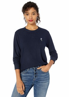 Lucky Brand Women's Floral Embroidered Sweatshirt  L