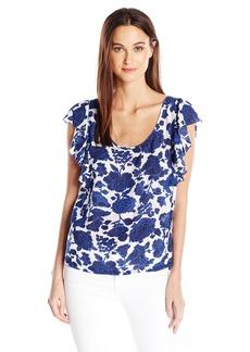 Lucky Brand Women's Floral Flutter Top