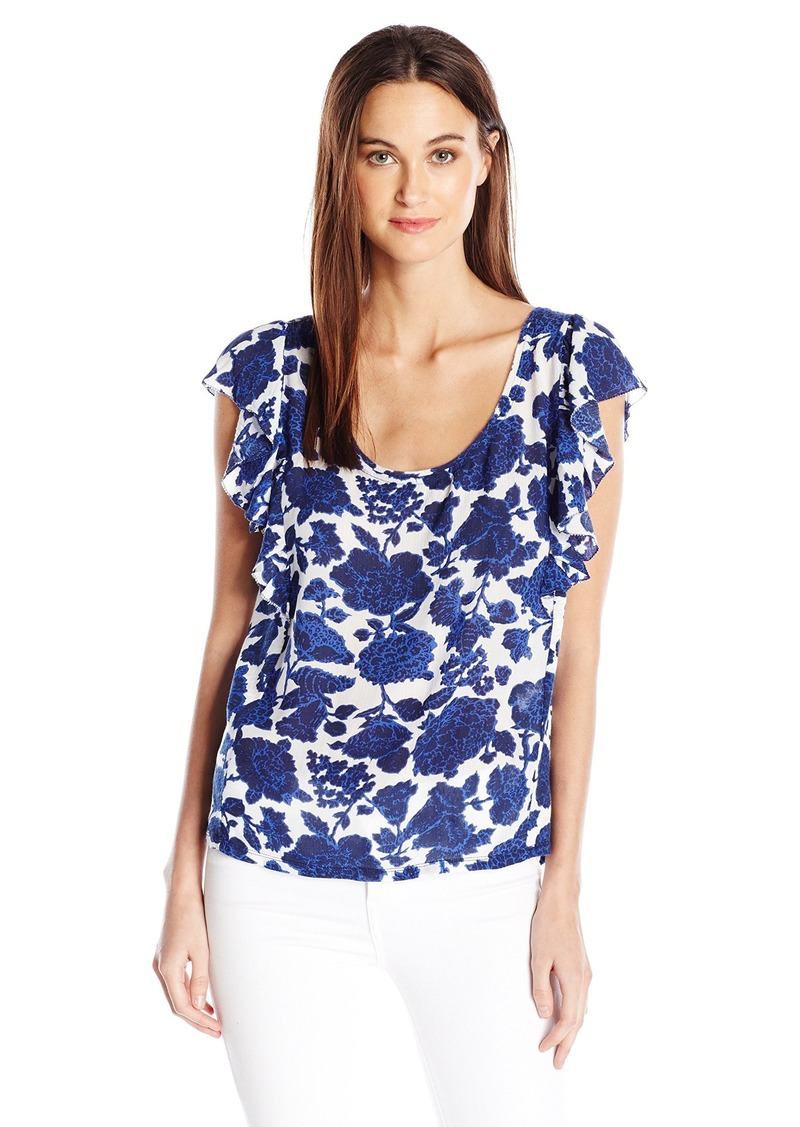 Lucky Brand Women's Floral Flutter Top