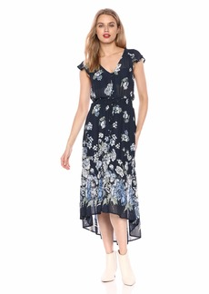 Lucky Brand Women's Floral Printed Felice Dress  S