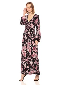Lucky Brand Women's Floral Printed Maxi Dress  S