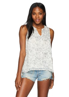 Lucky Brand Women's Floral Printed Tank TOP  S