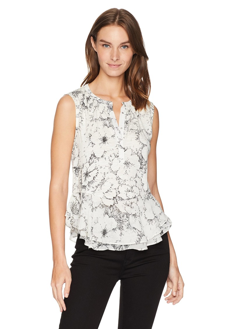 Lucky Brand Women's Floral Printed Tank TOP  XL