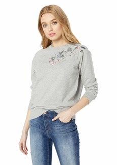 Lucky Brand Women's Floral Pullover Sweatshirt  L