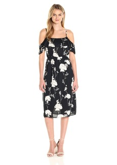 Lucky Brand Women's Floral Ruffle Midi Dress