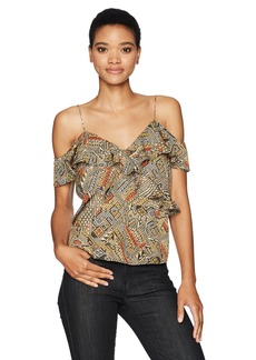 Lucky Brand Women's Flutter Cold Shoulder Top