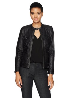 Lucky Brand Women's Four Pocket Scuba Jacket Black