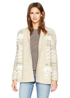 Lucky Brand Women's Fringe Cardigan Sweater  S