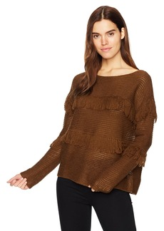 Lucky Brand Women's Fringe Pullover Sweater  S