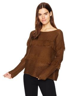 Lucky Brand Women's Fringe Pullover Sweater  XS
