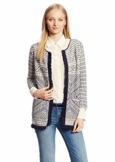 Lucky Brand Women's Fringe Sweater Coat