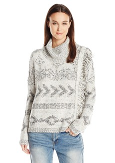 Lucky Brand Women's Fringe Turtleneck Sweater
