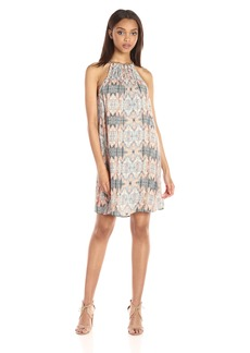 Lucky Brand Women's Geo Braided Halter Dress