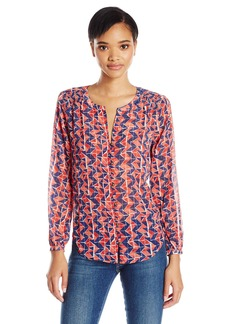 Lucky Brand Women's Geo Button Front Blouse