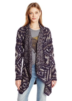 Lucky Brand Women's Geo Intarsia Wrap Sweater