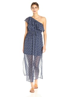 Lucky Brand Women's Geo One Shoulder Maxi Dress