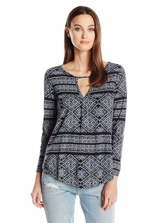 Lucky Brand Women's Geo Printed Top