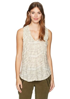 Lucky Brand Women's Geo Smocked Tank Top