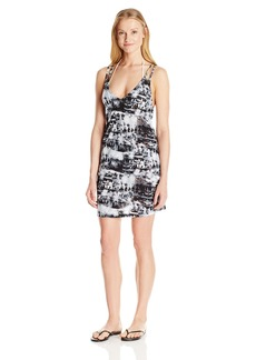 Lucky Brand Women's Global Tie Dye Knit Strapped Swing Dress Cover up  M