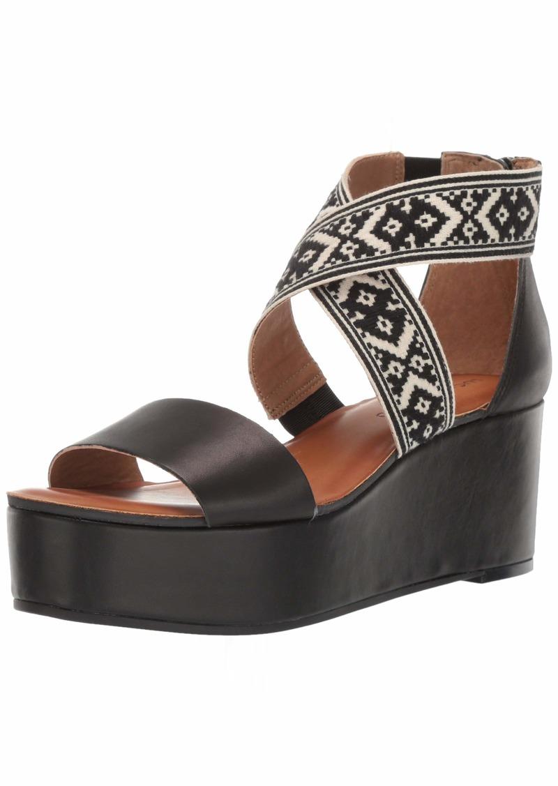 Lucky Brand Women's GWINDOLIN Espadrille Wedge Sandal   M US