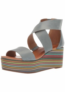 Lucky Brand Women's GWINDOLIN Espadrille Wedge Sandal   M US