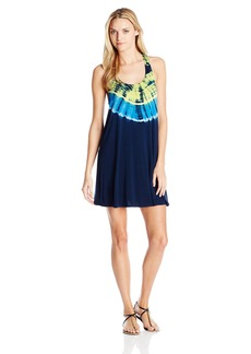 Lucky Brand Women's Half Moon Tie Dye Racer Back Cover Up Dress