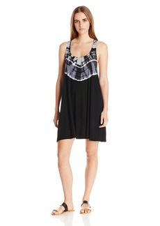 Lucky Brand Women's Half Moon Tie Dye Racer Back Cover Up Dress