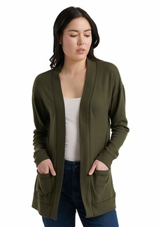 Lucky Brand Women's Harlan Cloud Jersey Cardigan Sweater  S