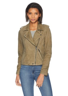 Lucky Brand Women's Helen Leather Moto Jacket  S