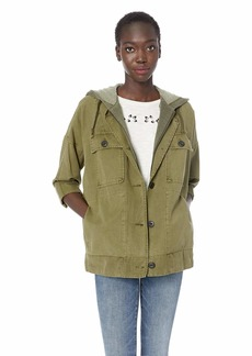 Lucky Brand Women's Hooded Utility Jacket  XS
