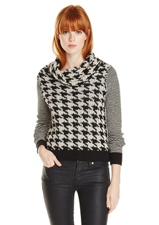 Lucky Brand Women's Houndstooth Pullover Sweater