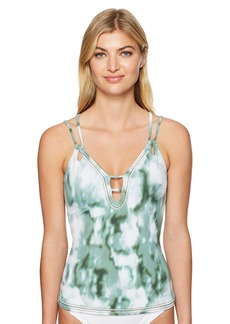 Lucky Brand Junior's Indian Summer Plunge Tankini Top  S