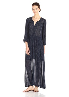 Lucky Brand Women's Indigo Dot Maxi Dress