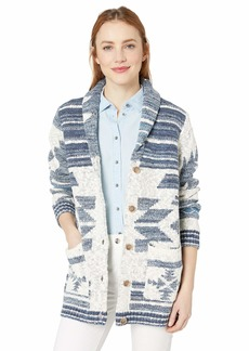 Lucky Brand Women's Jacquard Button UP Cardigan Sweater  M/L