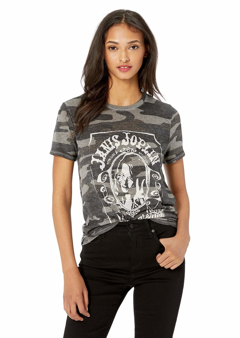 Lucky Brand Women's Janis Joplin CAMO TEE  S