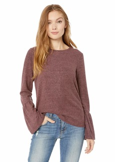 Lucky Brand Women's Jersey Bell Sleeve TOP  XL