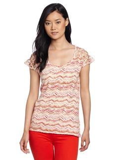 Lucky Brand Women's Jodi Chevron Stripe Top