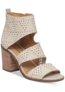 Lucky Brand Women's Kabott Cutout Block-Heel Sandals Women's Shoes
