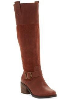 Lucky Brand Women's Kailan Wide-Calf Riding Boots Women's Shoes