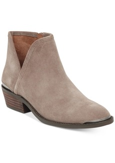 Lucky Brand Women's Keezan Block-Heel Booties Women's Shoes