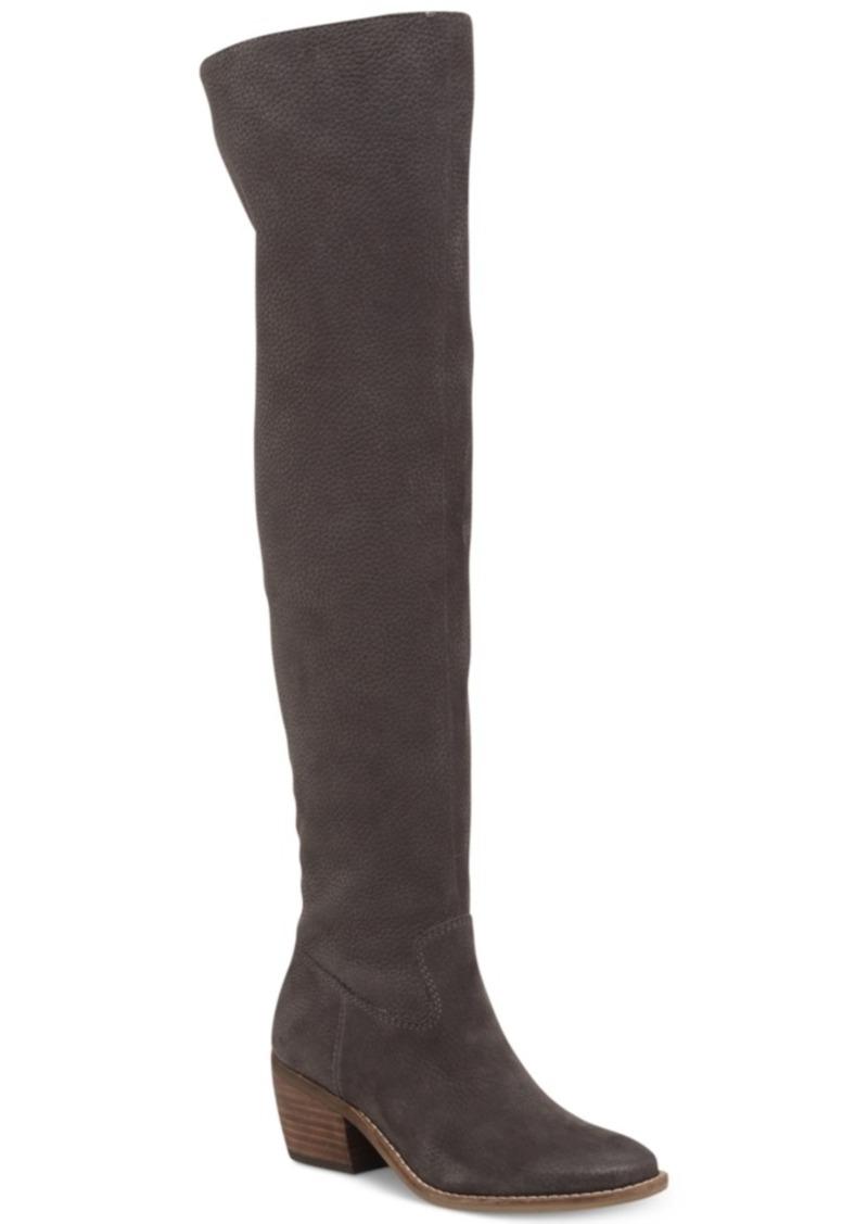 9c0a56e1951 Lucky Brand Women s Khlonn Block-Heel Over-The-Knee Boots Women s Shoes