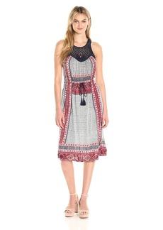 Lucky Brand Women's Knit Macrame Dress
