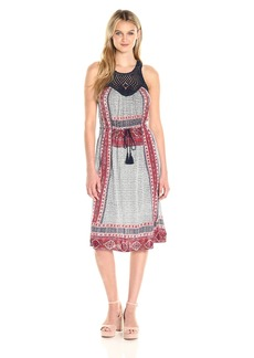 Lucky Brand Women's Knit Macrame Dress