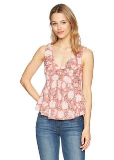 Lucky Brand Women's Knot Front Peplum Top  XL