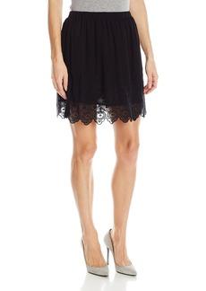 Lucky Brand Women's Black Lace Skirt