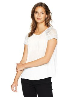 Lucky Brand Women's LACE Sleeve TOP  L