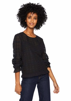 Lucky Brand Women's LACE TOP Black XS