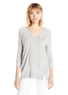 Lucky Brand Women's Lace Up Detail Sweater