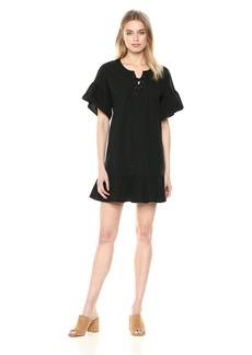 Lucky Brand Women's Lace up Dress  L